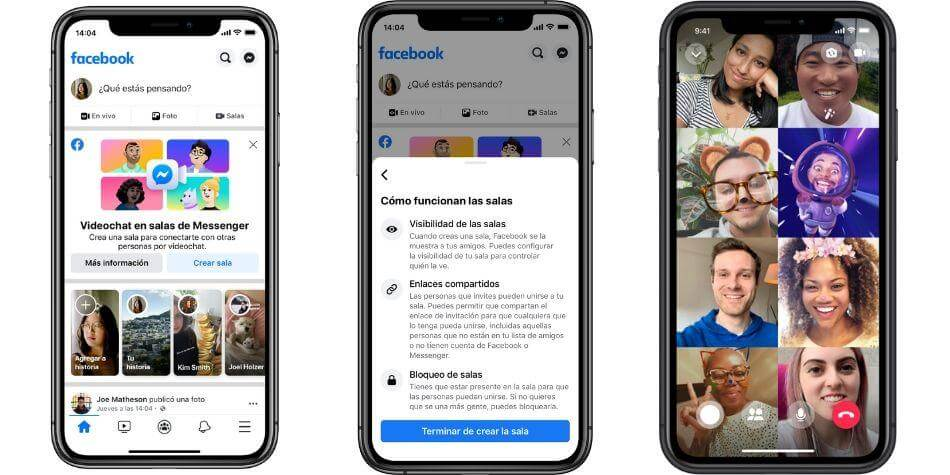 nuevo facebook messenger rooms